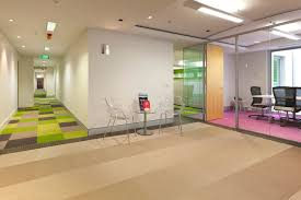 office flooring. colorful carpet for corridor of home office floor plans with ghost chairs ad coffe table near flooring