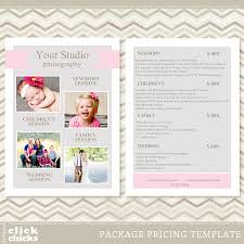 Photography Pricing Template Photography Pricing List Template 4