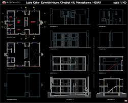 free autocad house plans dwg unique esherick house autocad dwg architecture
