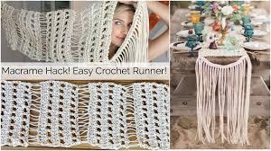Crochet Table Runner Patterns Easy Magnificent Design Inspiration