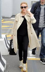 non stop kylie minogue was up early and ready to jet off to her next