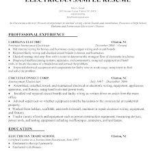 Sample Electrician Resume – Bitacorita