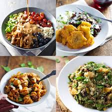 collage of four food photos