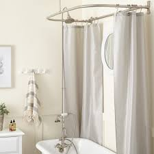 shower setup for clawfoot tub. gooseneck clawfoot tub shower conversion kit - d style ring with hand setup for n
