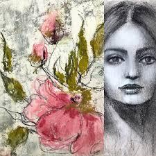 "Renee Mueller on Instagram: ""Creative Obsession-The Face The Flower. 🌺🌸.  #creativeobsession -#flowers #abstact #charco… | Artist inspiration, Art,  Art inspiration"