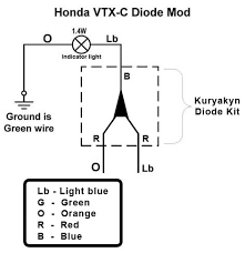 vtx 1800c diode fix  bareass choppers motorcycle tech pages kuryakyn diode kit wiring schematic
