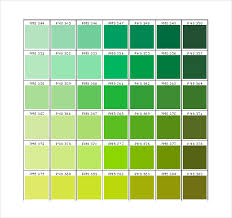 15 Word Pantone Color Chart Templates Free Download Free