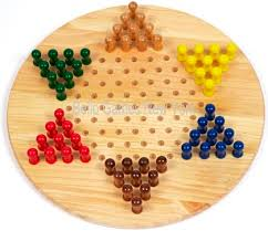greenwich village wooden chinese checkers set