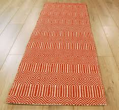 orange modern runner rugs