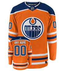 The most common oilers shirt material is stretched canvas. Edmonton Oilers Adidas Authentic Home Nhl Hockey Jersey