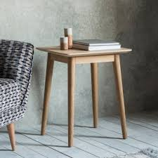 lysia side table solid oak wood natural
