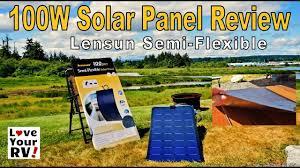Real World Test of the 100W Lensun <b>Flexible</b> Solar Panel - YouTube