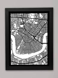 18 best new orleans images on pinterest maps cards and art prints intended for on map of new orleans wall art with new orleans map wall art wall art ideas