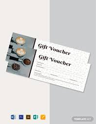 Gift Card Word Template Free Cafe Gift Voucher Template Word Psd Apple Pages
