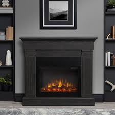 real flame crawford slim line electric fireplace