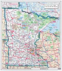 large scale roads and highways map of minnesota state with