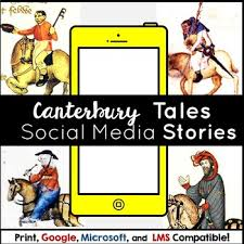 the canterbury tales unit plan activities test and essay tpt the canterbury tales unit plan activities test and essay