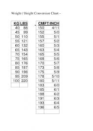 Height Conversion Chart Ft To Cm 44 Organized Height Cm To Feet Table