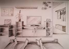 bedroom drawing one point perspective. Wonderful Perspective And Bedroom Drawing One Point Perspective E