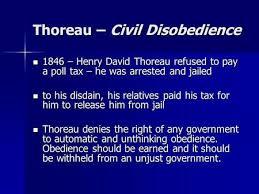 civil disobedience henry david thoreau civil disobedience as you thoreau civil disobedience 1846 henry david thoreau refused to pay a poll tax