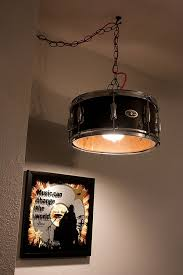 Drum lamp shades.