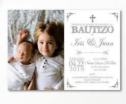 Twin Baptism Invitations Siblings Baptism Invitation In Spanish Twins Baptism Etsy