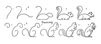 Small Picture Kids Vintage Printable Draw Some Squirrels The Graphics Fairy