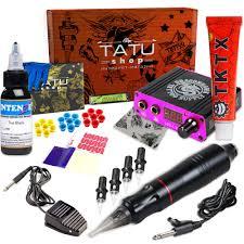 тату набор Kit Fox Black с 1 ой роторной тату машинкой