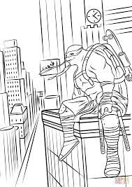teenage mutant ninja turtles out of the shadows coloring page