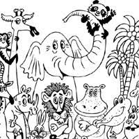 Color pictures, email pictures, and more with these jungle animals coloring pages. Jungle Friends Coloring Pages Surfnetkids