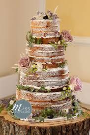 diy wedding cake. Romantic naked wedding cake May love Pinterest Wedding cake