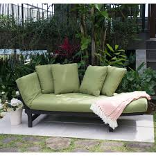 better homes and gardens delahey studio day sofa with cushions green walmart