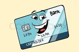 bank card cute smiley face character ic book cartoon pop art ilration retro vector vector