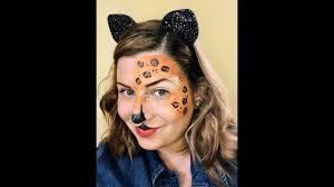easy cheetah print makeup face paint