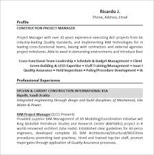 Construction Project Manager Resume Examples Best 48 Project Manager Resume Templates Free Samples Examples