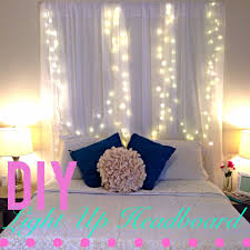 Diy Curtains With Lights Modern Diy Bedroom Canopy With Light Make A Magical Bed