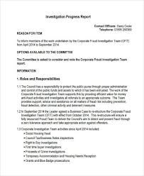 Business Progress Report Template Extraordinary 48 Investigation Report Samples And Examples PDF