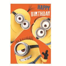 Card Birthday Chart Happy Birthday Minions Height Chart Card