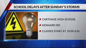 East Texas Lighting East Texas Schools Delayed After Severe Weather