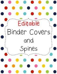 Binder Covers Editable Binder Spine Stuff Pinterest Binder