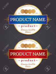 Food Product Label Design Template Product Label Design Template Retro Style