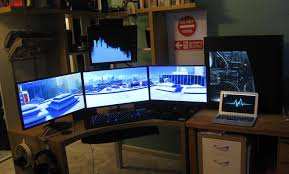 3 Monitor Display Stand Wonderful 100 Monitor Desk Hostgarcia GreenVirals Style 2