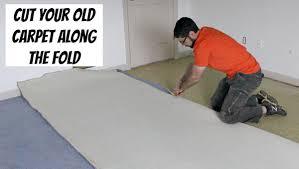 cut old carpet