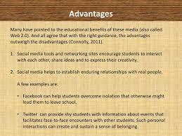 social media in education advantages  amp  disadvantages      advantagesmany have pointed to the educational benefits