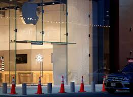 suspects used a stolen vehicle for a smash and grab at the apple in highland