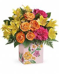 teleflora s painted blossoms bouquet bouquet