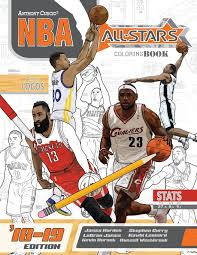 Nba All Stars 2018 2019 The Ultimate Basketball Coloring And