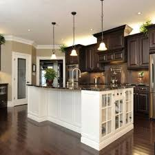 kitchens with dark cabinets. Perfect Cabinets Dark Cab White Island Floors Pendents Intended Kitchens With Dark Cabinets I