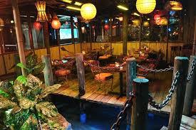 lanai outdoor patio hospitality lighting of mai kai restaurant fort lauderdale