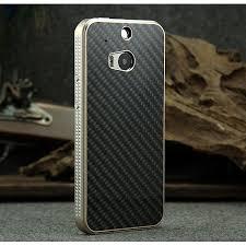 htc one m8 gold case. aluminium metal bumper and carbon fiber protective back case for htc one m8 - champagne\u0026black htc gold e